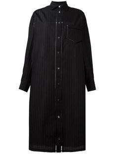 VERONIQUE BRANQUINHO . #veroniquebranquinho #cloth # Veronique Branquinho, Striped Shirt Dress, Black Cotton, Designer, Chef Jackets, Clothes, Collection, Dresses, Style
