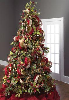 2014 RAZ Santa's Holiday Christmas Tree - see more of the new 2014 decorated tree from RAZ at http://www.trendytree.com #trendytree #raz