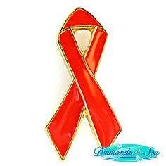 AIDS Ribbon Lapel Pin