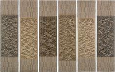 Anni Albers- Six Prayers, 1966–67 cotton, linen bast, silver lurex 731⁄4 × 191⁄4 in. (186 × 48.9 cm) each panel Jewish Museum, New York JM 149-71-6