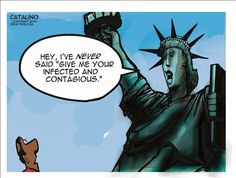 Political Cartoons by Ken Catalino...hope and change since Ellis Island days....