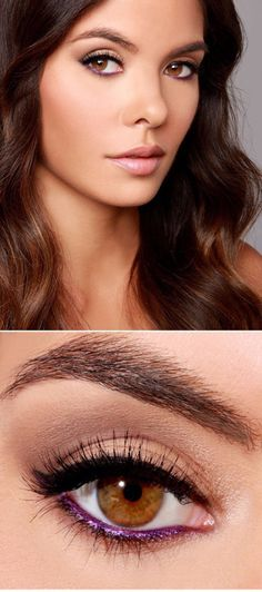 O si prefieres un look más simple, prueba con un toque púrpura metálico: | 17 Formas de delinearte los ojos sin parecer un payaso