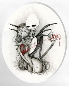 Jack Skellington and Sally Tattoos | Jack Skellington and Sally by Laetitia Lamblin - The Nightmare Before ...