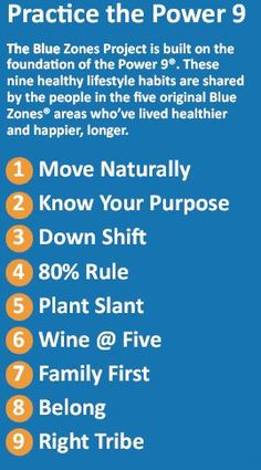 Blue Zones - the Longevity of the People ... an amazing account of why they're so healthy and happy!