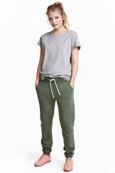 Спортивные брюки - Зеленый хаки - | H&M RU 1