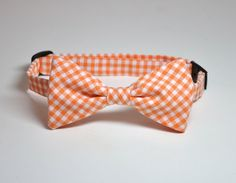 Bowtie Orange Gingham Boys Bowtie