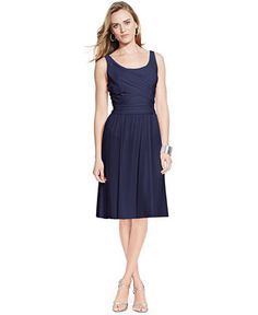 Lauren Ralph Lauren Scoop-Neck Sleeveless Dress - Bridesmaids - Women - Macy's