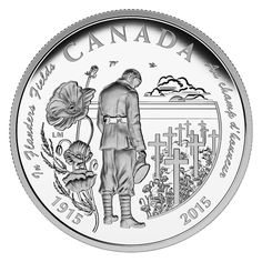 Anniversary of In Flanders Fields: 1 oz. Fine Silver Coin – Mintage: Canadian Things, Canadian Artists, Battle Of Ypres, Coining, Canadian Soldiers, Flanders Field, Canadian History, Coins For Sale, World Coins