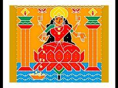 Youtube post  How to Make Goddess Lakshmi rangoli  Sacred Symbols to Invite Goddess Lakshmi  mahalakshmi drawing