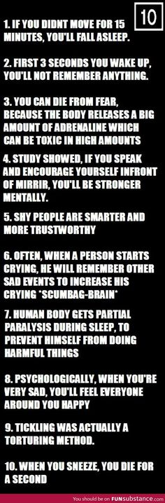 Ten psychological facts. Wow...
