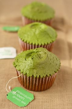 Green Tea Cupcakes (Adapted for High-Altitude)