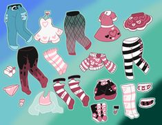 Pink Wardrobe Adopt (closed) by Horror-Star - Ropa - kleidung Kawaii Drawings, Cartoon Drawings, Cute Drawings, Fashion Design Drawings, Fashion Sketches, Character Outfits, Character Art, Drawing Anime Clothes, Clothing Sketches