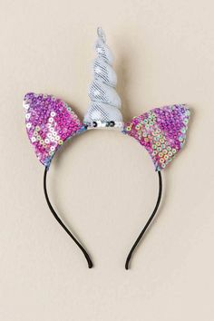 Jeannette Caticorn Sequin Headband