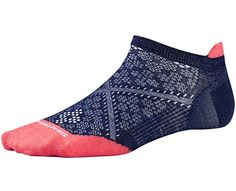 Smartwool PhD Run Ultra Light Micro Sock - Women's Ink/Bright Coral Small - http://womensoutdoorrecreationsocks.shopping-craze.com/index.php/2016/04/26/smartwool-phd-run-ultra-light-micro-sock-womens-inkbright-coral-small/