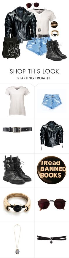 """""""Buzzfeed Quiz results"""" by underratedships0 ❤ liked on Polyvore featuring Belstaff, Leka, Giuseppe Zanotti, Pamela Love, Ray-Ban, Kenneth Jay Lane and Fallon"""
