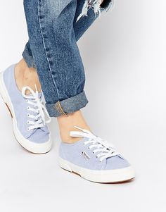 Image 1 of Superga 2750 Oxford Blue Plimsoll Trainers