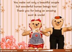 Wish your aunt & uncle a happy #auntanduncleday with this cute #ecard.