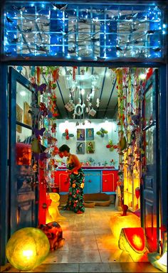 A colourful store in Kimolos Island, Cyclades, Greece Greek Life, Color Of Life, Greece Travel, Greek Islands, Amazing Destinations, Life Images, Homeland, Places To Go, Scenery