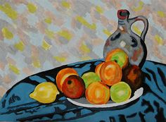 Frutas e Jarro na Mesa