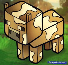 How to Draw a Minecraft Cow, Step by Step, Video Game Characters, Pop Culture, FREE Online Drawing Tutorial, Added by Dawn, March 26, 2013, 3:56:39 pm