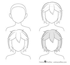 Anime short messy hair step by step drawing. Anime Curly Hair, Anime Long Hair, Manga Hair, Anime Girl Hairstyles, Messy Hairstyles, Girl With Pink Hair, Girl Short Hair, Short Hair Drawing, Hair Sketch