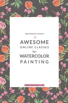 6 Awesome online watercolor classes to learn painting Watercolor Tips, Watercolor Classes, Watercolour Tutorials, Learn Painting, Learn To Paint, Online Art Classes, Happy Paintings, Art Courses, Art Tutorials