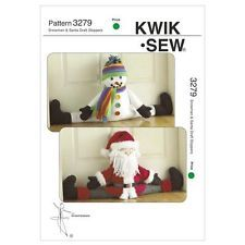 Kwik Sew Sewing Pattern K3279 Father Christmas / Snowman Door Draught Stoppers.  Cute way to add some Christmas sparkle to your decorations.