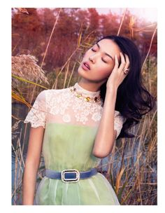 Tian Yi is a Pastel Dream in Vogue China January 2013 by Stockton Johnson