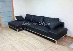 L-Shape Leather Sofa - Max9005