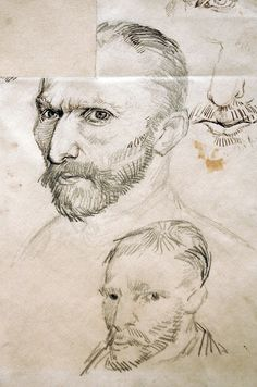 Vincent van Gogh, Self-Portraits, 1887. Pen and ink, graphite on wove paper, 31.1 x 24.4 cm. Van Gogh Museum, Amsterdam