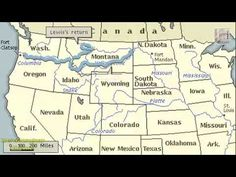 LEWIS AND CLARK EXPEDITION  AND VOYAGE HISTORY, ANIMATION ON A MAP