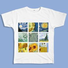 Van Gogh Tee boogzel apparel, van gogh t-shirt, art, painting t-shirt, painter, grunge, soft grunge, grunge fashion, aesthetic clothes, aesthetic outfit, pale grunge, pastel grunge, aesthetic tumblr