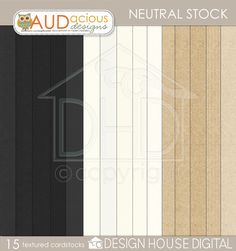 Today Only! Neutral Stock #freebie paper pack from Audacious Designs #scrapbook #digiscrap #scrapbooking #digifree #scrap