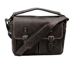 ONA Prince Street Dark Truffel   Vintage Fototasche Leder   DSLR Kameratasche
