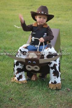 Coolest Bull Rider Costume: My son Sawyer is 2 1/2 years old and is obsessed with bull riding. That is all he talks about and watches on TV. I thought this Bull Rider Costume would