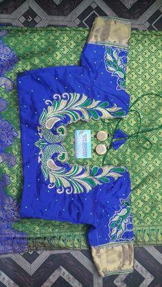 Peacock Blouse Designs, Kids Blouse Designs, Wedding Saree Blouse Designs, Hand Work Blouse Design, Simple Blouse Designs, Stylish Blouse Design, Designer Blouse Patterns, Fancy Blouse Designs, Peacock Design