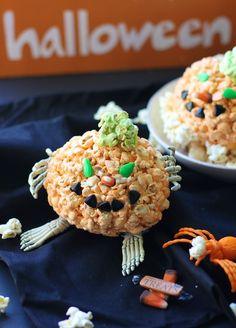 Halloween pumpkins Jello popcorn ball recipe