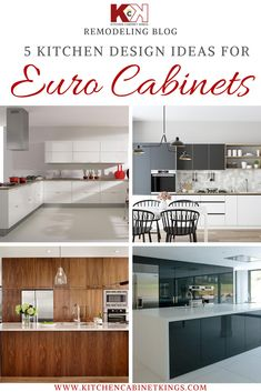 You don't have to live in Barcelona to enjoy the simple and elegant design of European-style cabinets.