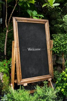 Welcome wooden frame board mockup | free image by rawpixel.com Coffee Shop Signs, Rose Gold Backgrounds, Welcome Images, Shop Signage, Invitation Mockup, Sign Board Design, Tropical Background, Wallpaper Stickers, Photoshop