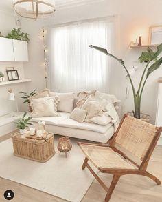 Cute Living Room, Boho Living Room, Living Room Decor, Home Room Design, Home Interior Design, Living Room Designs, Living Room Inspiration, Home Decor Inspiration, Deco Bobo Chic