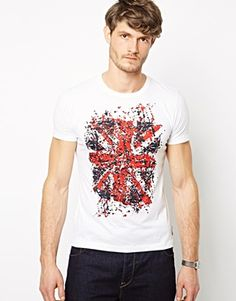 Shop French Connection T-Shirt Broken Crew at ASOS. Asos Men, French Connection, Fashion Online, T Shirt, My Style, Mens Tops, Shopping, Fashion Styles, Supreme T Shirt