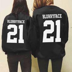 Twenty one pilots - blurry face 21 hoodie jacket merch memorabilia TØP
