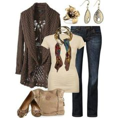 Dear Stitch Fix: I could totally wear all of this. Like the long sweater's both color and shape.