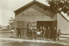 Lilydale Fire Station at 306 Main St,Lilydale in the northeastern suburbs of Melbourne,Victoria in the late 1900s.The original fire station was built in 1906.