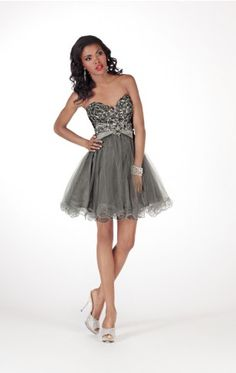 Royal Ball Gown Short Sweetheart Dark Navy Organza Dress