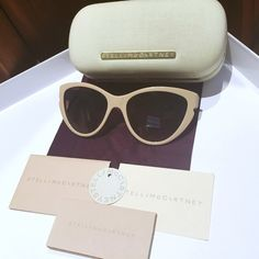 Stella McCartney Cat Eye Retro Sunglasses Get glamorous and step out with the spectacular personality of the Stella McCartney SM 4033 frame. These sunnies have a good mix of the oversize and cat eye styles to help you really stand out. Includes all original tags and Stella McCartney case.   Condition: Used. Small scratch on left leg as shown in photo. Bundle 2+ items for 10% off Sorry, no trades or sales off Poshmark Stella McCartney Accessories Sunglasses