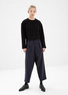 Marni Oversize Trouser in Navy #totokaelo #marni