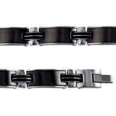 Bracelet acier ceramique Terceira - Bijoux GL Trendy Bracelets, Black Bracelets, Bangles, Ceramics, Men, Accessories, Jewelry, Male Jewelry, Steel