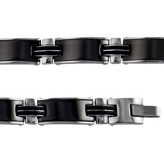 Bracelet acier ceramique Terceira - Bijoux GL Trendy Bracelets, Black Bracelets, Bangles, Men, Accessories, Jewelry, Man Bracelet, Male Jewelry, Steel