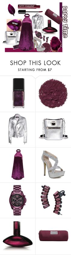 """Party Time"" by kelly-floramoon-legg ❤ liked on Polyvore featuring Illamasqua, Dsquared2, Lime Crime, Alexander Wang, WithChic, Michael Kors, ABS by Allen Schwartz, Calvin Klein, MANGO and NYX"